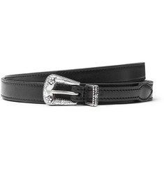 Saint Laurent 2cm Black Leather Belt