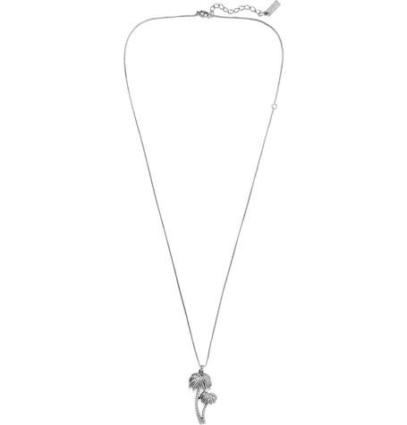 SAINT LAURENT | Saint Laurent - Burnished Silver-tone Necklace - Silver | Goxip