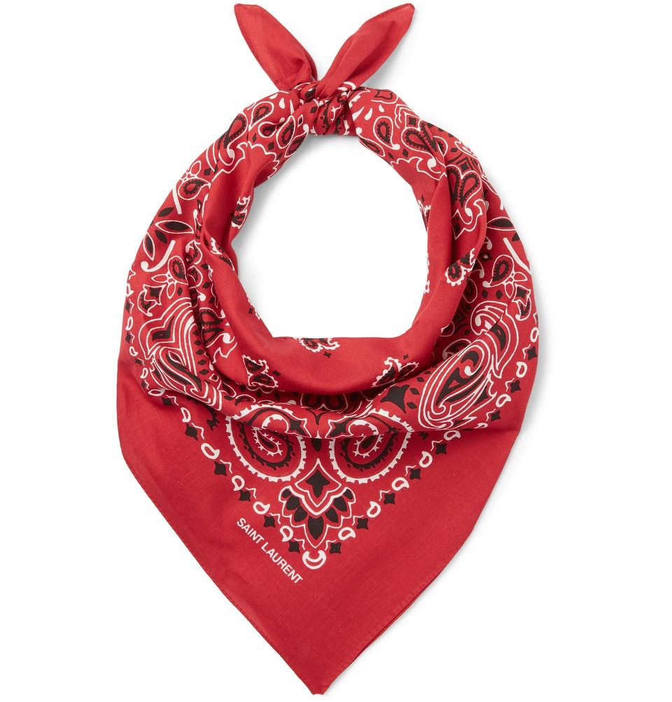 Printed Cotton Bandana - Red