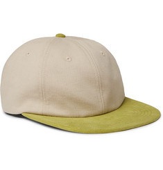 53e20c08a95 Pop Trading Company - Logo-Embroidered Cotton and Suede Baseball Cap