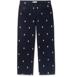 Pop Trading Company - + Miffy Embroidered Cotton-Corduroy Trousers