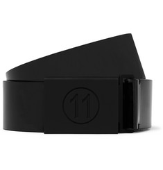 Maison Margiela 3cm Black PVC and Leather Belt
