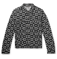 Dolce & Gabbana Slim-Fit Printed Denim Jacket