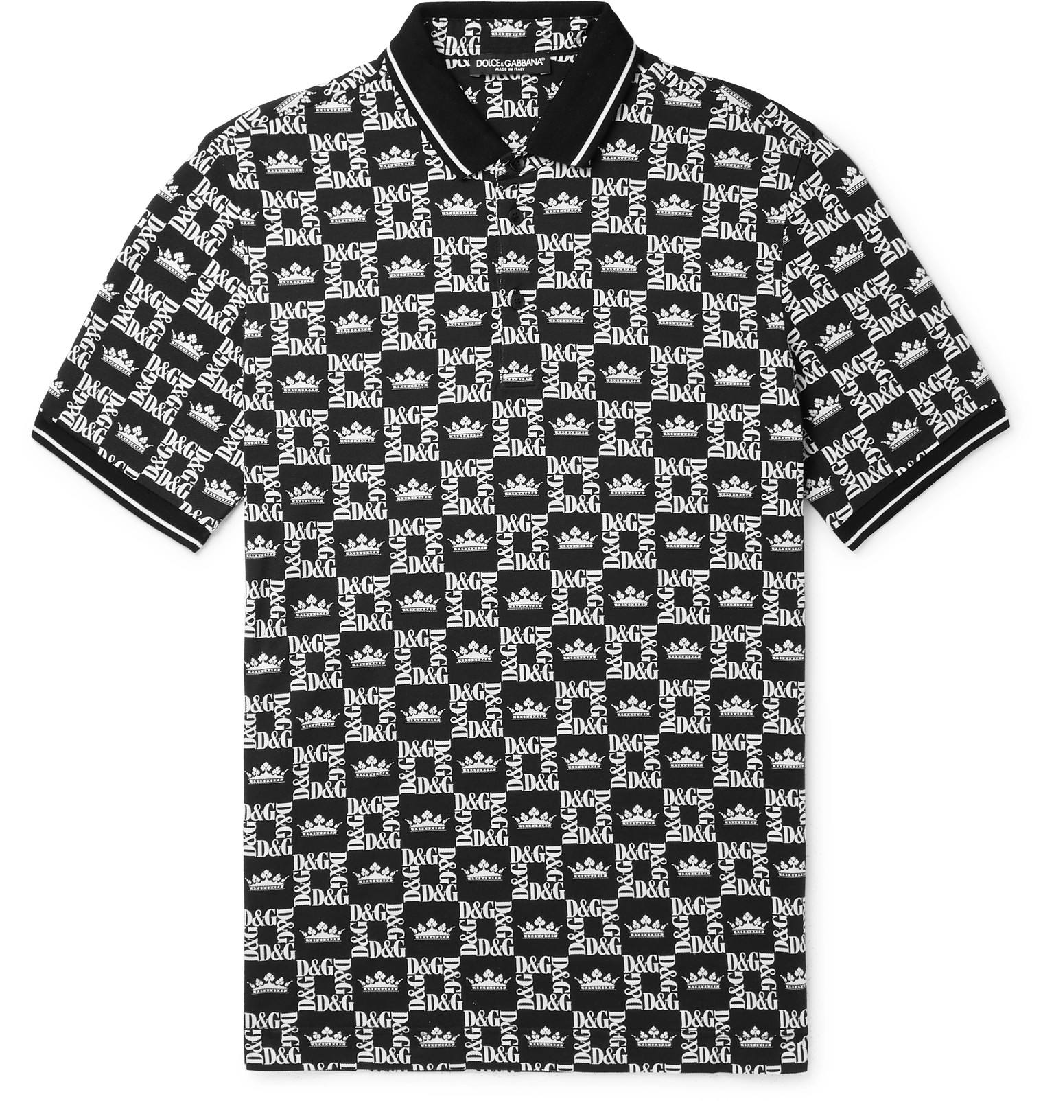 e70a2b1c Dolce & Gabbana - Slim-Fit Printed Cotton-Piqué Polo Shirt