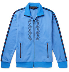 Stella McCartney - Webbing-Trimmed Embroidered Tech-Jersey Track Jacket