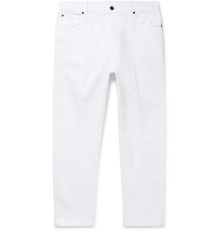 STELLA MCCARTNEY | Stella McCartney - Slim-fit Denim Jeans - White | Goxip