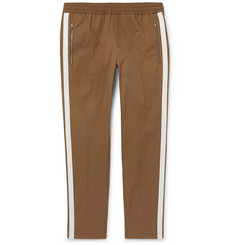 Stella McCartney Brown Striped Cotton-Twill Drawstring Trousers