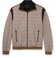 Stella McCartney - Prince of Wales Checked Wool and Cotton-Blend Bomber Jacket