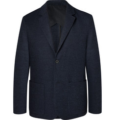 Mr P.-Navy Slim-Fit Unstructured Virgin Wool-Blend Bouclé Suit Jacket