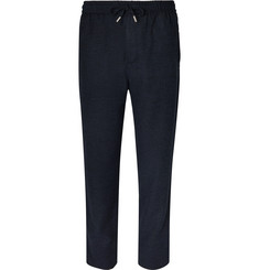 Mr P. Wide-Leg Virgin Wool-Blend Bouclé Drawstring Trousers