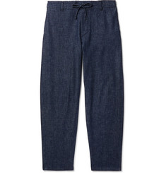 Maison Kitsuné Tapered Denim Drawstring Trousers