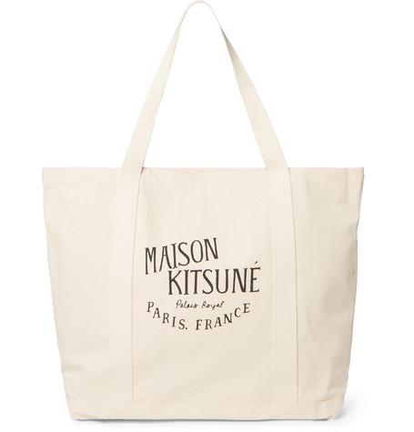 a6840468a0 Maison Kitsuné - Printed Cotton-Canvas Tote Bag