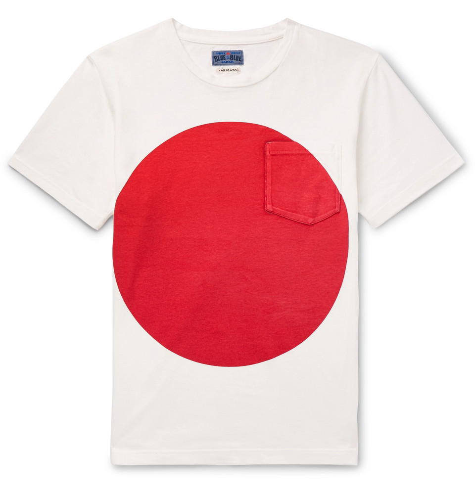 Slim-fit Printed Cotton-jersey T-shirt - White