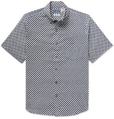 Blue Blue Japan Button-Down Collar Checked Cotton Shirt