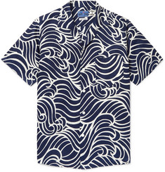 00770b4e03e Blue Blue Japan Camp-Collar Printed Linen Shirt