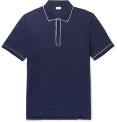 Brioni Contrast-Tipped Mercerised Cotton-Piqué Polo Shirt