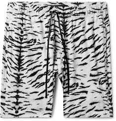 AMIRI Wide-Leg Mid-Length Printed Swim Shorts