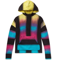 AMIRI Striped Cotton-Blend Hoodie