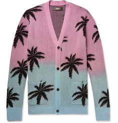 AMIRI - Oversized Palm Tree-Intarsia Cashmere and Virgin Wool-Blend Cardigan