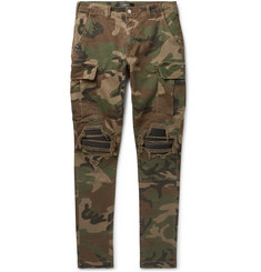 AMIRI MX1 Camouflage-Print Slim-Fit Tapered Stretch-Cotton Twill Cargo Trousers