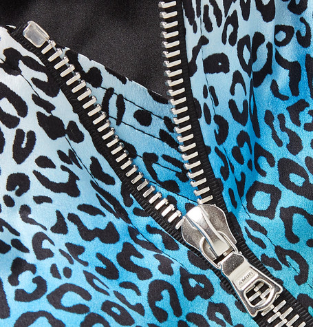 2716c9a34 Rainbow Leopard-Print Silk Bomber Jacket in Multicolour