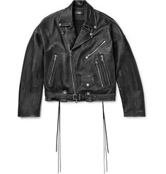 AMIRI Distressed Leather Biker Jacket