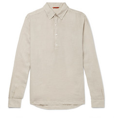 Barena Linen Half-Placket Shirt