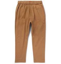 Barena Tapered Stretch-Cotton Drawstring Trousers