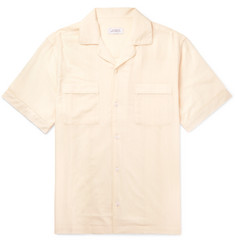 Saturdays NYC Camp Collar Herringbone Gauze Shirt