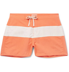 Saturdays NYC Grant Slim-Fit Short-Length Colour-Block Swim Shorts