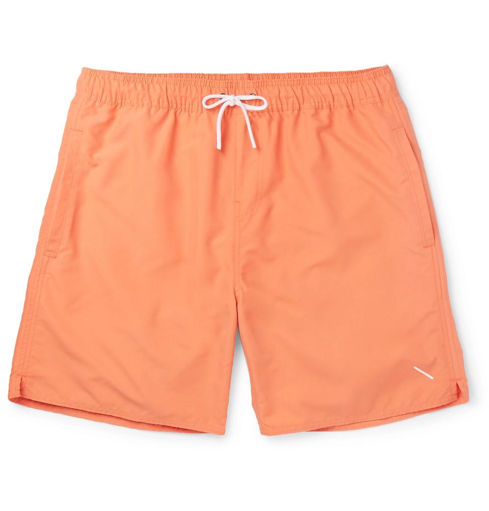 Mid-length Swim Shorts - Peach