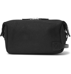 Saturdays NYC Leather-Trimmed Cotton-Canvas Wash Bag