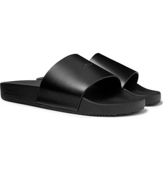 Saturdays NYC Logo-Embossed Leather Slides