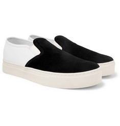 Saturdays NYC Cotton-Canvas and Suede Slip-On Sneakers