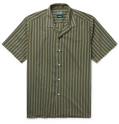 Gitman Vintage Camp-Collar Striped Cotton and Silk-Blend Shirt