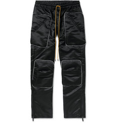 Rhude Rhacer Slim-Fit Cropped Satin Trousers