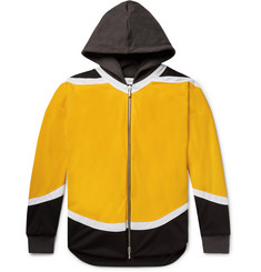 Rhude - Oversized Jersey-Trimmed Colour-Block Nylon Zip-Up Hoodie
