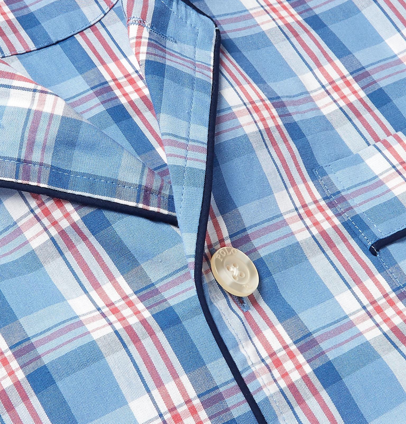 1f075b3a59 Polo Ralph Lauren - Checked Cotton Pyjama Set