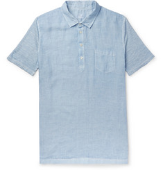 120% - Slub Linen Polo Shirt