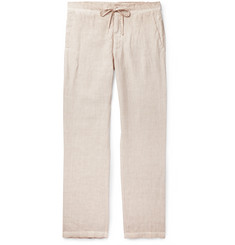 120% Slub Linen Drawstring Trousers
