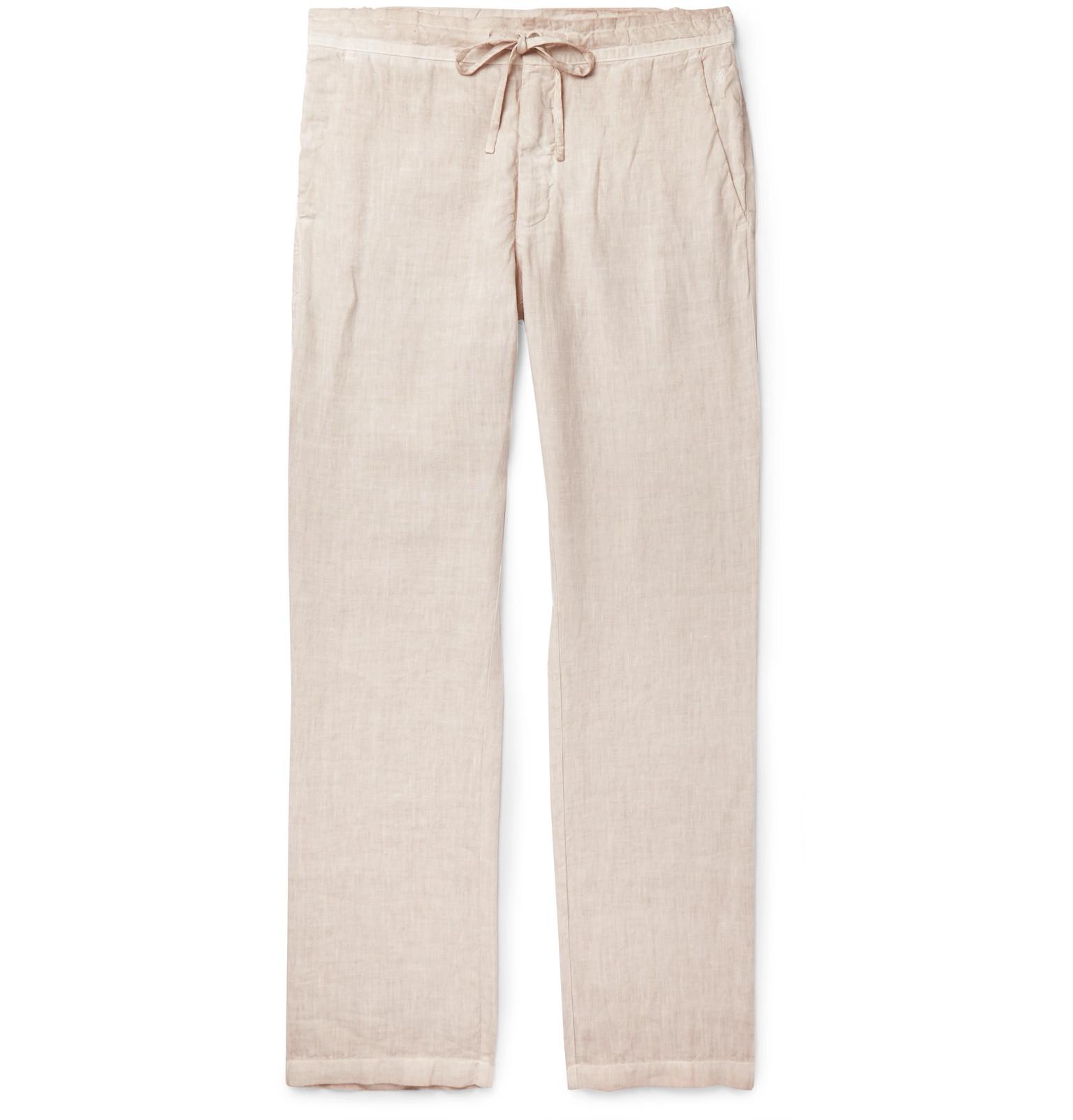 54332d742e 120% - Slub Linen Drawstring Trousers