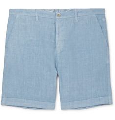 120% Slim-Fit Mélange Linen Shorts