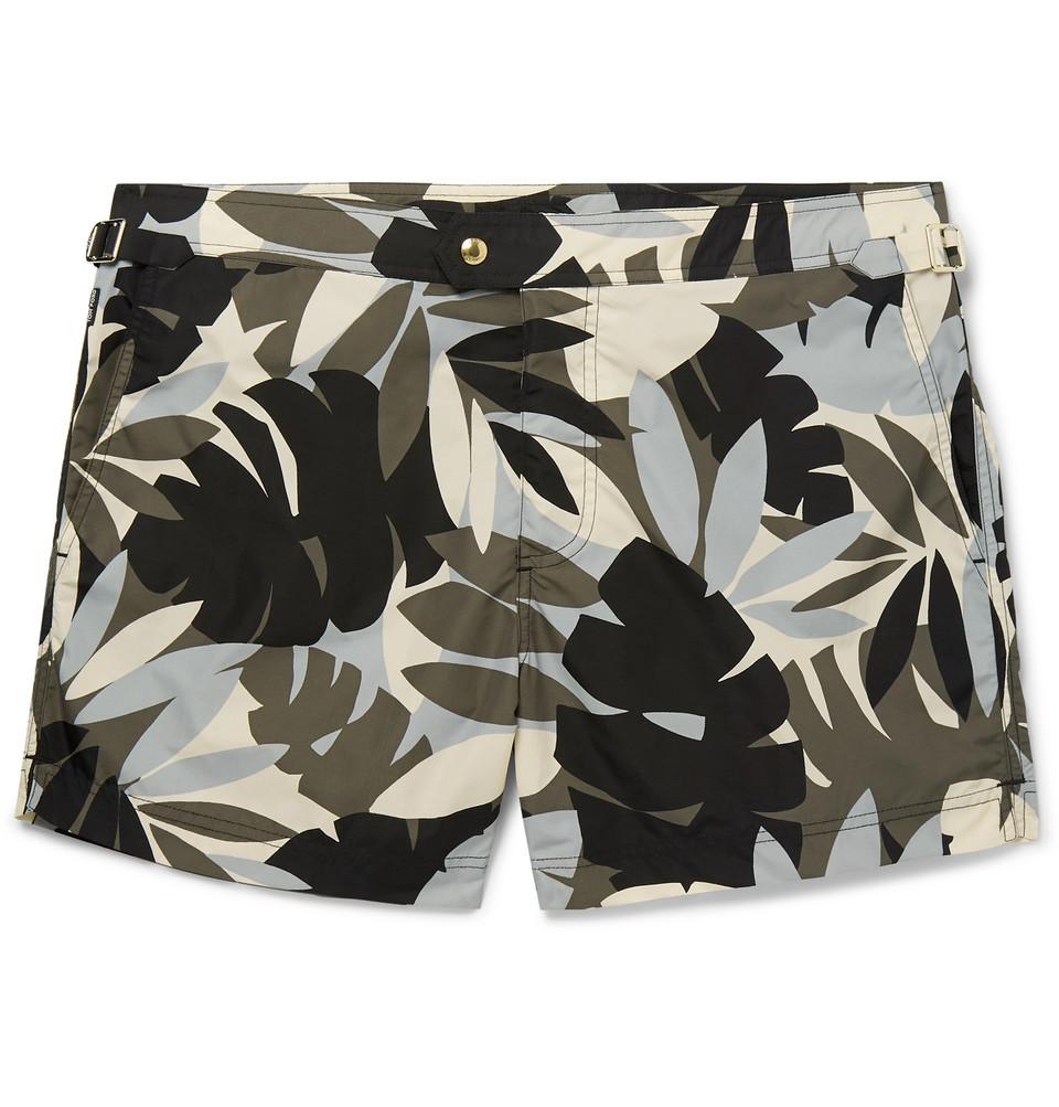 Slim-fit Mid-length Printed Swim Shorts - Multi