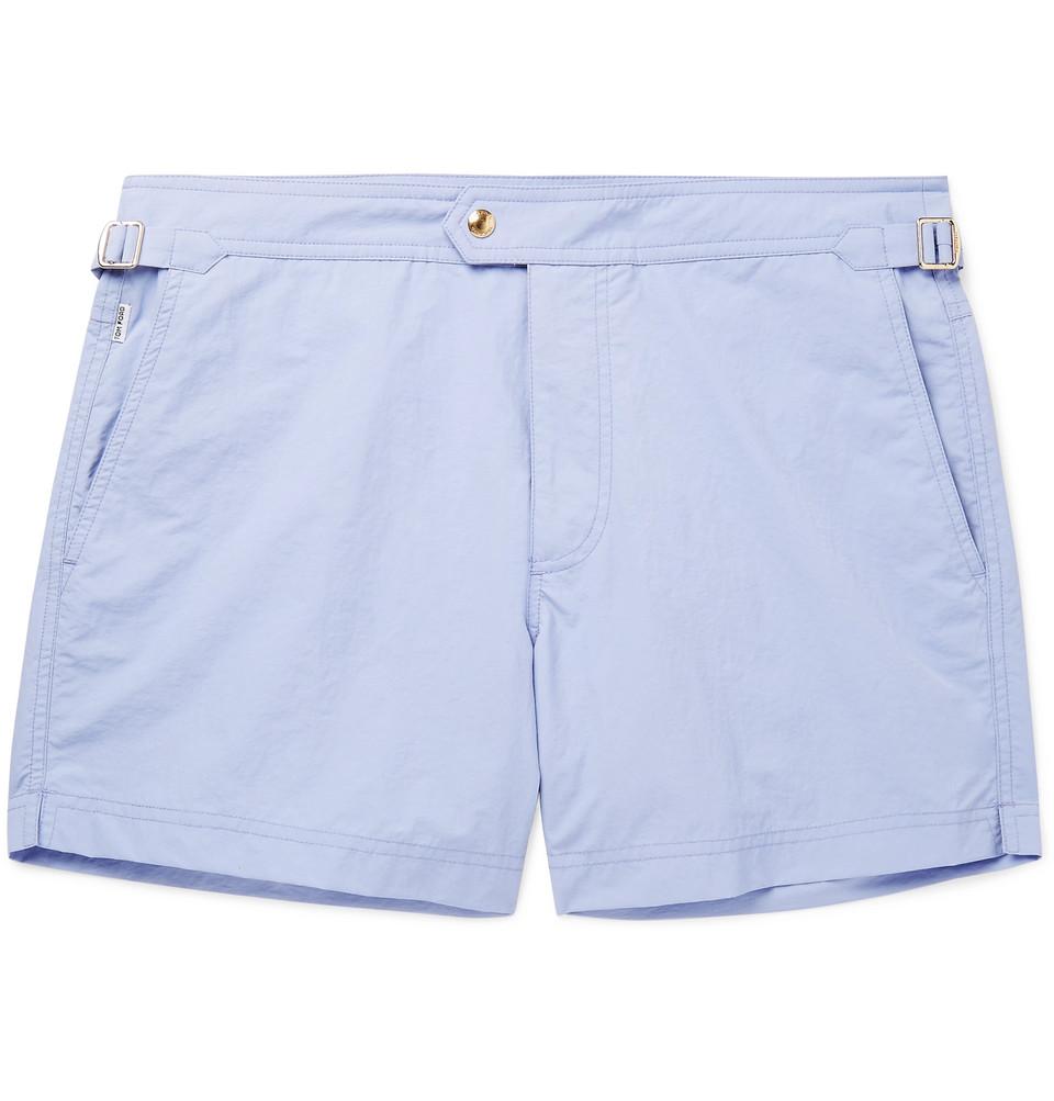 Mid-length Swim Shorts - Light blue