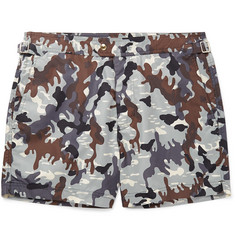 TOM FORD Mid-Length Camouflage-Print Swim Shorts