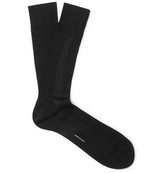 TOM FORD Logo-Embroidered Ribbed Cotton Socks