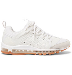 Nike + CLOT Air Max 97/Haven Leather, Suede and Mesh Sneakers