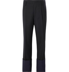 Lanvin - Pleated Panelled Wool Trousers