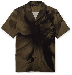 Neil Barrett Camp-Collar Printed Voile Shirt