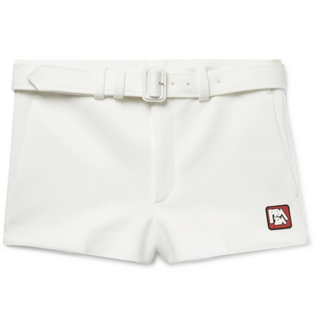 Slim Fit Neoprene Shorts by Prada